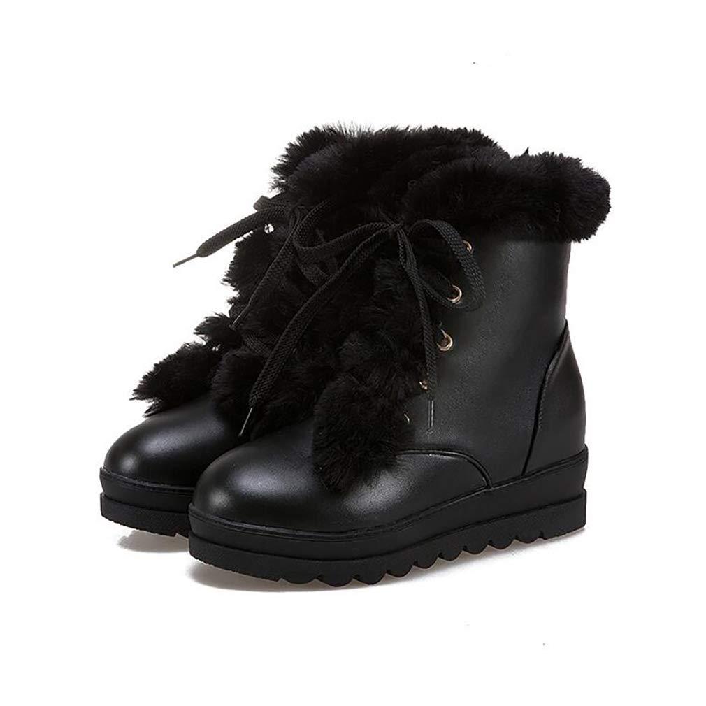 Hy Damenschuhe Winter dicken Boden warme Schneeschuhe Stiefel/Damen / erhöhen Kreuz Lace-up Lässige Booties/Stiefeletten / Stiefel/Damen Student Slip-Ons Outdoor-Ski-Schuhe (Farbe : C, Größe : 43) - cfcb58