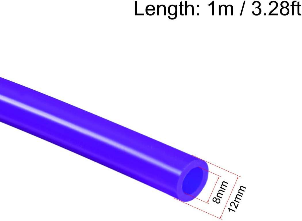 sourcing map Tubos de silicona 10mm ID x 16mm OD 3.280ft 1m Tubo flexible de silicona con manguera de aire negro