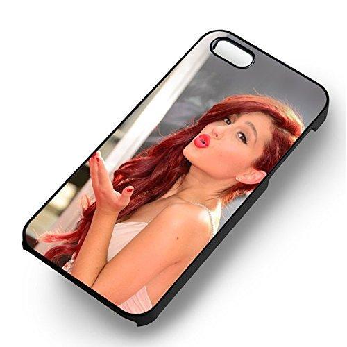 Ariana Grande Cute pour Coque Iphone 7 Case (Noir Boîtier en plastique dur) I5D9OI