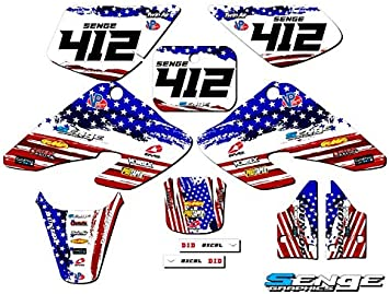 Senge Graphics Kit Compatible with Honda 2001-2004 XR 80//100 Merica Graphics kit