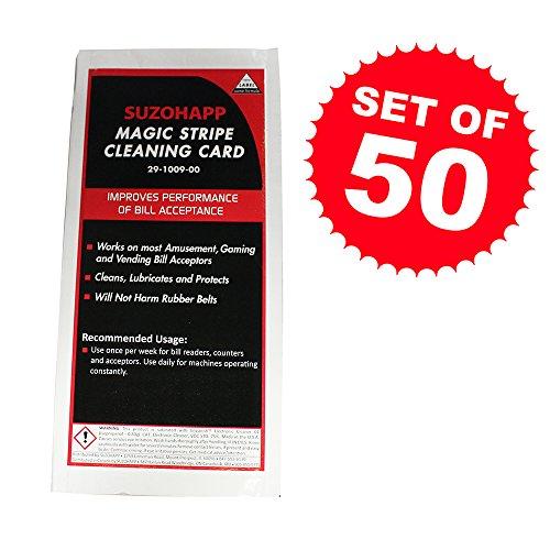 Arcade Magic Stripe Dollar Bill Cleaning Card - Set of (Room Magic Set Cabinet)