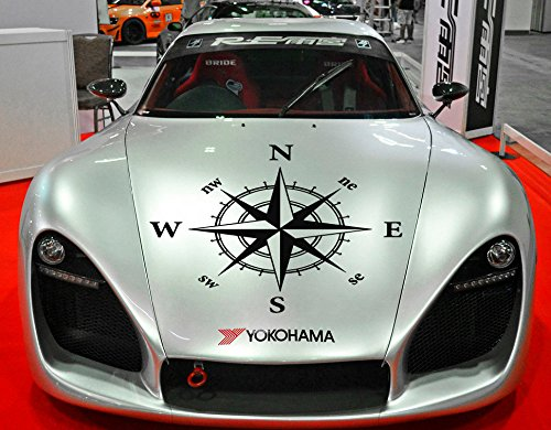 Compass Hood Vinyl, Compass Hood Decal, Auto Car Vinyl Decal Stickers Compass Hood Sticker, Compass Car Vinyl tr1882