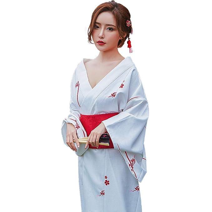 68fb024cc4806 Image Unavailable. Image not available for. Colour: YOMORIO Japanese  Traditional Kimono Robe for Women Kyoto Sakura Yukata ...