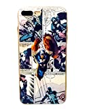 HNYHM Comic Book Flexible Phone Case (Captain America, 7/8 Plus)