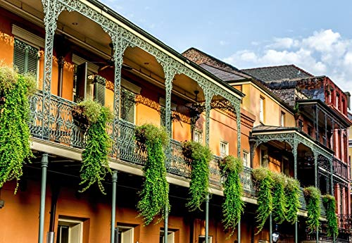 New Orleans, Louisiana - Balconies in the French Quarter - Photography A-95711 95711 (12x18 SIGNED Print Master Art Print w/Certificate of Authenticity - Wall Decor Travel ()