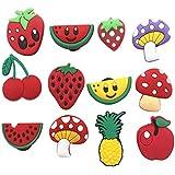 diasstro 12 Pcs Cute Fruit Jibbitz Shoe Charms for Croc Shoes & Bracelet Wristband Kids Gifts Party Birthday