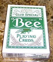 1 DECK BEE CLUB SPECIAL CASINO PLAYING CARDS GREEN NEW