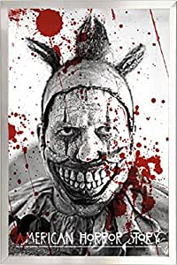 Framed twisty the clown 22x34 poster in real for American horror story wall mural