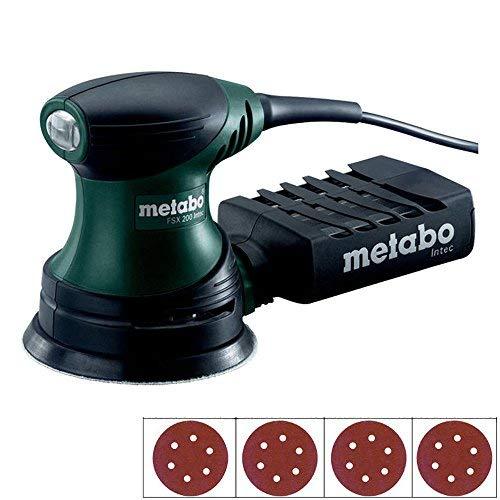 Metabo FSX200/2 240w 125mm Intec Palm Disc Sander 240V + Extra 40 Sanding Discs
