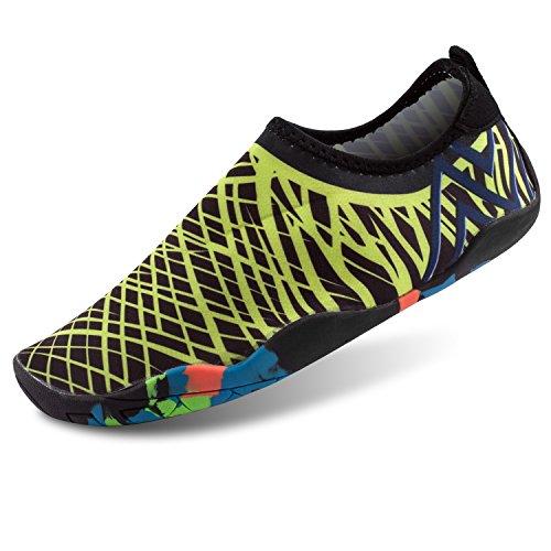 Shinmax Aqua Wasser Schuhe, Männer Frauen Barfuß Quick Dry Leichte Haut Flexible Socken für Strand, Schwimmen, See, Bootfahren, Park, Walking, Yoga, Fahren Gold