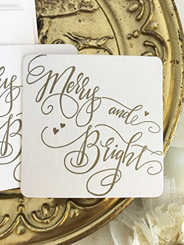 Christmas Drink Coasters - Merry and Bright