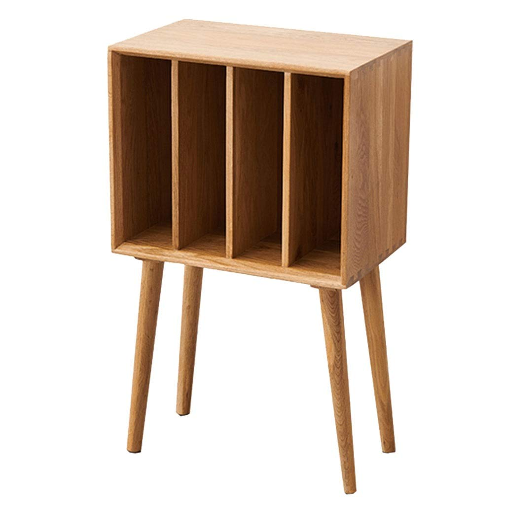Book Accessories Modern Bookcase Nordic Magazine Rack Simple Locker Storage Cabinet Living Room Magazine Cabinet (Color : Wood Color, Size : 284576cm) by Book Stands