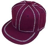 primerry Unisex leisure canvas Zipper pattern hip-hop baseball cap hat (Red wine)