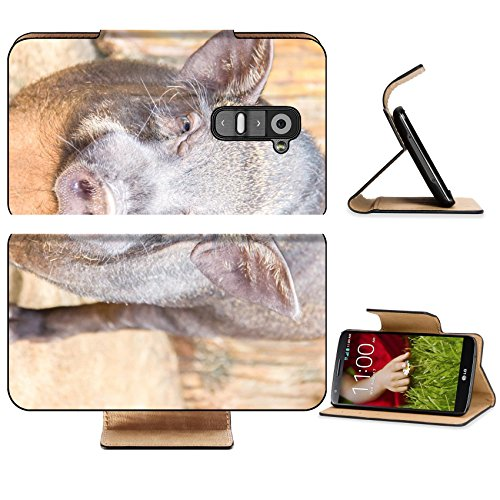 LG G2 Flip Case Cute face of boar in the farm 37144581 by MSD Customized Premium Deluxe Pu Leather generation Accessories HD Wifi 16gb 32gb Luxury Protector Case