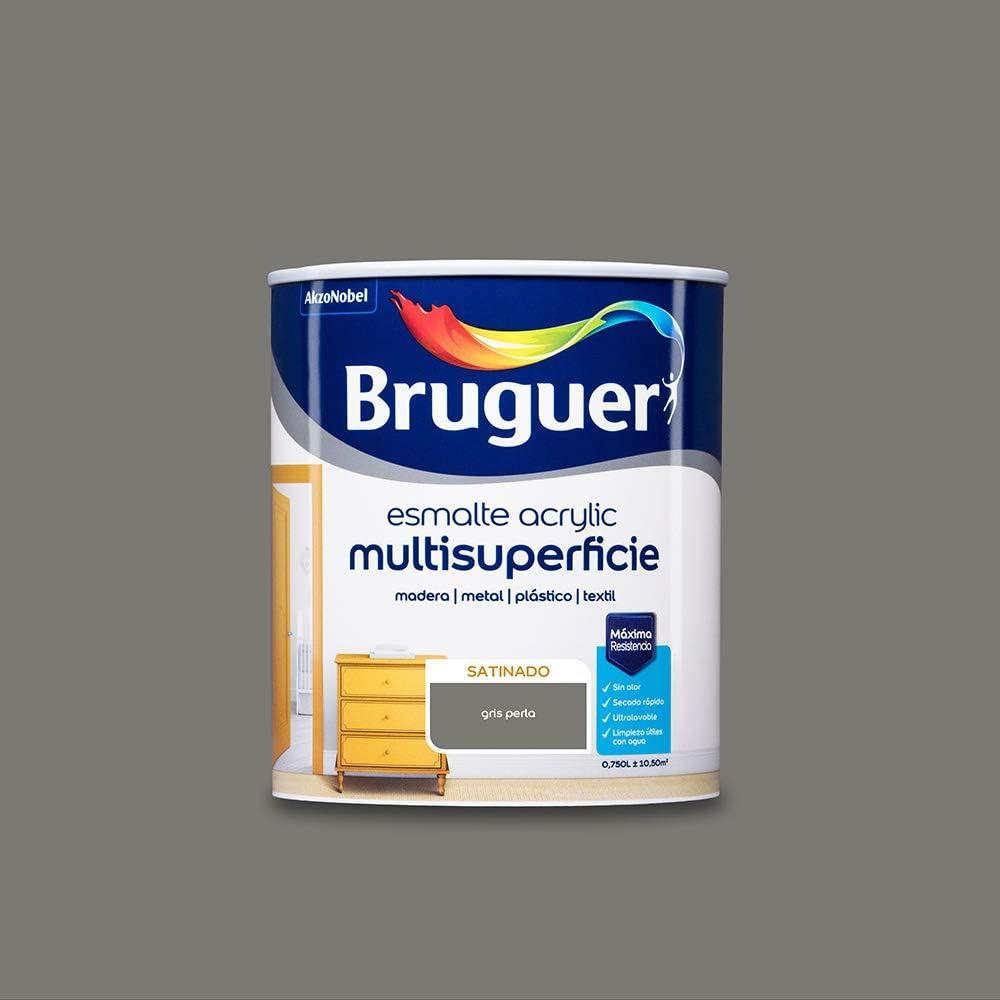 BRUGUER 5057463 ESM.ACRYLIC SAT.GRIS PERLA 750 ML, Estándar