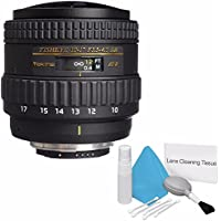 Tokina 10-17mm f/3.5-4.5 AT-X 107 AF DX NH Fisheye Lens for Nikon (International Model) No Warranty + Deluxe Cleaning Kit Bundle 1