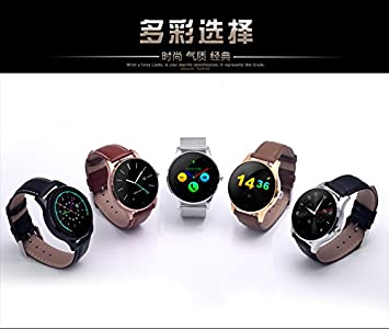 Amazon.com: K88H Smart Watch Ultra Thin Disk Heart Rate ...