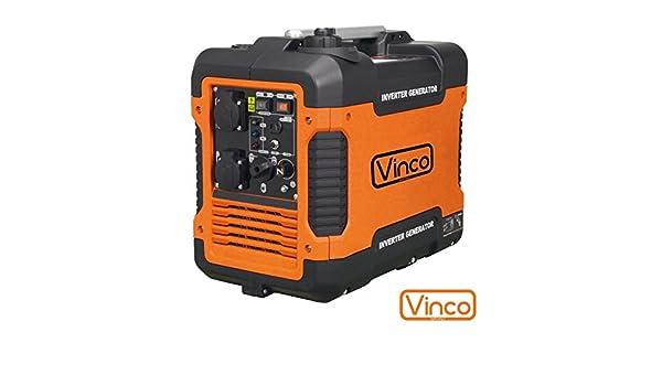 Grupo electrógeno/Generador de corriente Inverter 2000 W - 220 V silenziato Vinco - 60156: Amazon.es: Bricolaje y herramientas