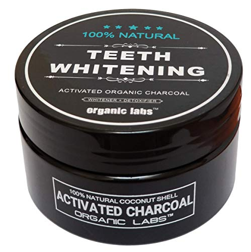 (100% ORGANIC COCONUT ACTIVATED CHARCOAL NATURAL TEETH WHITENING POWDER BY ORGANIC LABS)