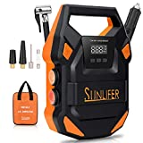 Sunlifer Car Air Compressor Tire Inflator, Portable Air Compressor for Car, 12V 150 Psi Digital Auto Tire Pump for Car, Motorcycle, Bike and Other - Upgraded Version