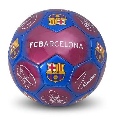 Balón de fútbol con diseño del FC Barcelona y firmas, tamaño 5 ...