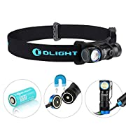 Amazon #DealOfTheDay: Olight® H1R Nova Rechargeable LED Headlamp with CREE XM-L2 LED with 1 x 3.7V 650mAh RCR123A Multi-function Waterproof Handheld Flashlight (Cold/Neutral White LED) Outdoor Gears