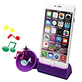 Product Features:  It is a phone stand! It is also a phone horn for music!!  Perfect for turning your iPhone 6/6s plus 5.5 inches into a speakerphone.  No external power needed.  18db amplified. Easily keep iPhone stands vertically and horizontally. ...