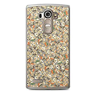 Floral LG G4 Transparent Edge Case - Beige and White