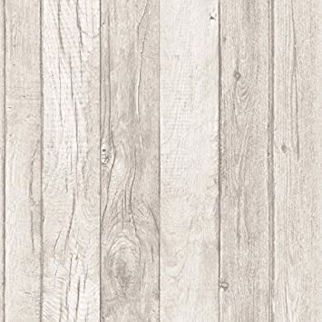 Wood Effect Wallpaper Wooden Plank Grain Weathered Realistic Sand