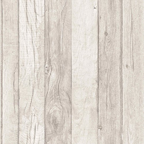 Wood Effect Wallpaper Wooden Plank Grain Weathered Realistic Sand Grandeco by Grandeco