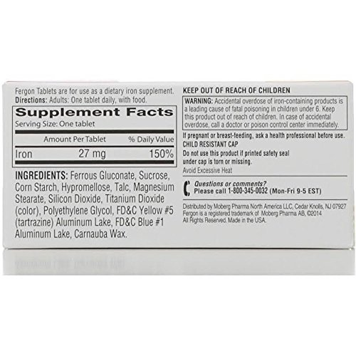Fergon High Potency Iron Supplement Tablets - 100 Ea