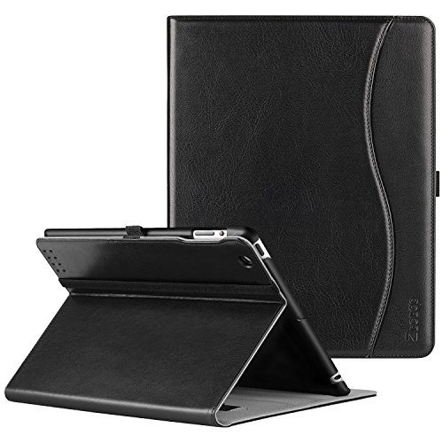 (Ztotop iPad 2/3/4 Case - Premium PU Leather Business Slim Folding Stand Folio Cover with Auto Wake/Sleep for iPad 4th Generation with Retina Display, iPad 3, iPad 2,Black)