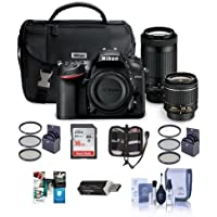 Nikon D7200 DSLR Camera Kit with AF-P DX 18-55mm f/3.5-5.6G VR Lens & AF-P DX 70-300mm f/4.5-6.3G ED Lens - Bundle With 16GB SDHC Card, 55mm Filter Kit, 67mm UV Filter, Memory Wallet And More