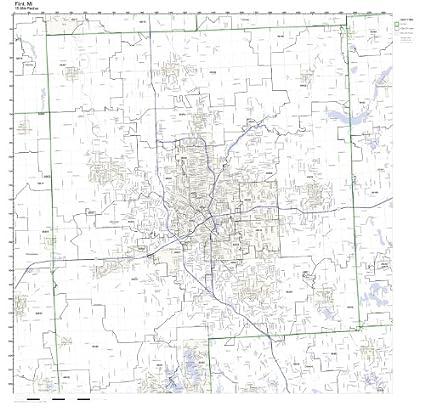 Amazon Com Flint Mi Zip Code Map Laminated Home Kitchen