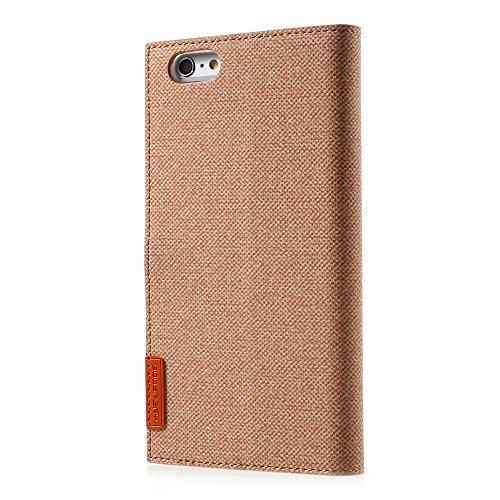 MERCURY GOOSPERY Milano Diary Wallet Leather Tasche Hüllen Schutzhülle - Case für iPhone 6s 6 4.7 inch - Orange