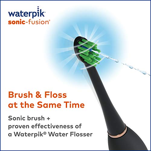 51imU2vO7uL - Waterpik Electric Toothbrush & Water Flosser Combo in One - Sonic-Fusion Professional Flossing Toothbrush, SF-02 Black