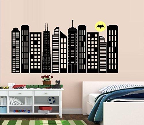 BestPricedDecals Gotham City Skyline #2 Children ~ Wall