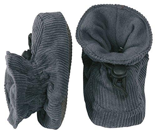 Melton Cotton Corduroy Booties - Grey (12-24m)