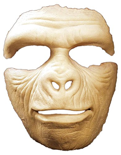 UHC Men's Monkey Prosthetic Gorilla Face Party Latex Halloween Costume Mask]()