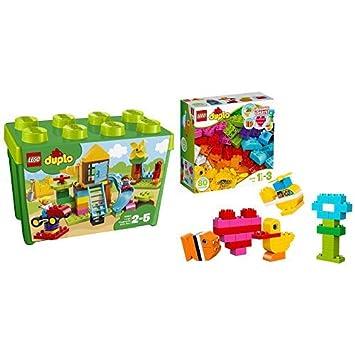 LEGO Duplo 10864 Steinebox mit gro/ßem Spielplatz Spielzeug f/ür drei J/ährige Familienhaus Gro/ße Steine /&  Duplo 10835