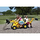 : rolly toys CAT Construction Pedal Tractor: Backhoe Loader (Front Loader and Excavator/Digger), Youth Ages 3+