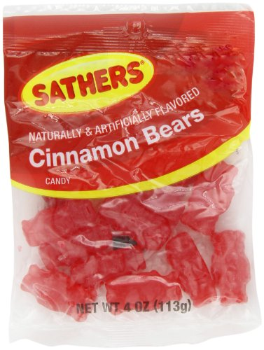 Farley's & Sathers Candy, Cinnamon bears, 4 Ounce, Pack of ()