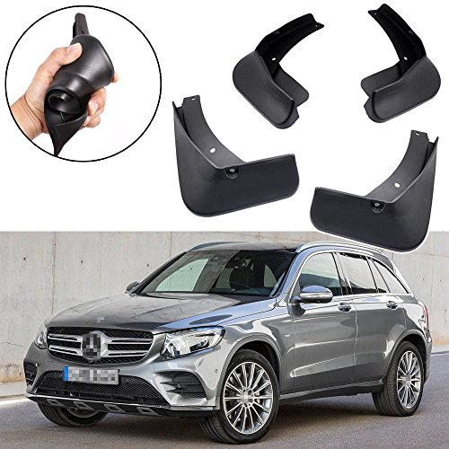 SPEEDLONG 4Pcs Car Mud Flaps Splash Guard Fender Mudguard for Mercedes-Benz GLC AMG Line / GLC43 AMG (Model w/o Running Boards) ()
