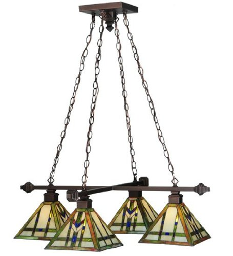 Light Wheat Chandelier 4 (Meyda Tiffany 122603 Prairie Wheat 4 Light Chandelier, 36.25