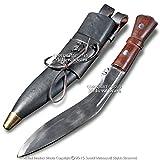 Medieval Gears Brand Gurkha Khukuri Nepal Kukri Machete Full Tang Fixed Blade Knife Carrying Sheath