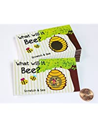 Gender Reveal Unique & Fun Party Ideas- Scratcher Scratch Off Game Cards, Cute Pink Or Blue 'What Will It Bee?' Bumblebee Scratch-Off Tickets (25 cards) My Scratch Offs (Pink~ Girl) BOBEBE Online Baby Store From New York to Miami and Los Angeles