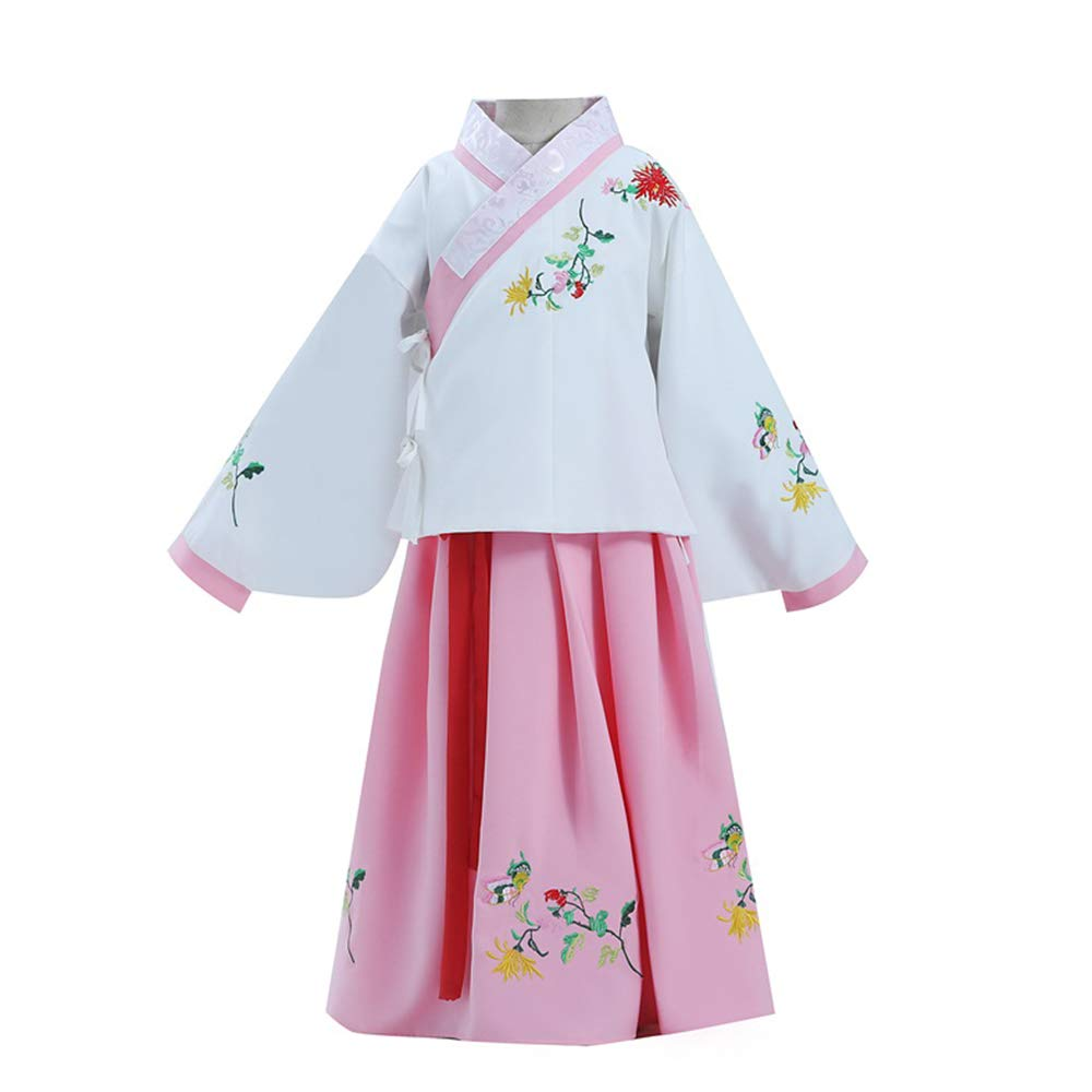 FXNN Hanfu - Costumes, Skirts, Guzheng, Autumn and Winter Clothing (Color : Pink+White, Size : 150cm) by FXNN