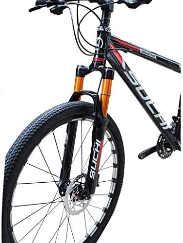 SN サスペンションフォーク、ショルダーコントロール超軽量マウンテンバイク自転車クイックロック26 / 27.5inch、トラベル予圧調整可能