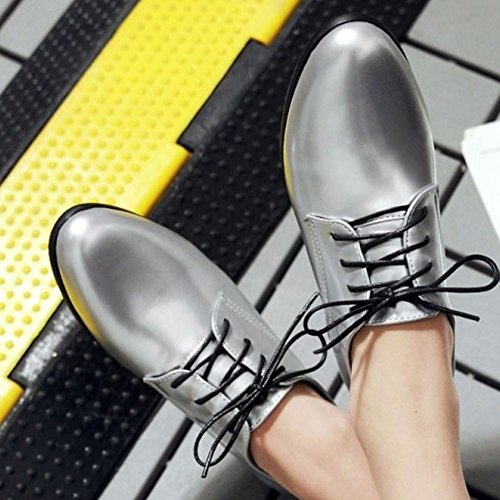 Dimensiones Brogue Scarpe Casuale Big 1 silver Donna Zanpa qRXaW