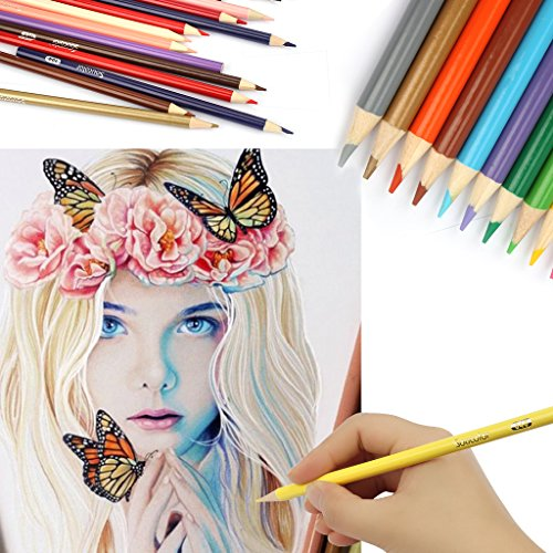 Soucolor 160 Colored Pencils Set Artist Drawing Coloring Pencils for Adult Coloring Books Art Projects by Soucolor (Image #6)